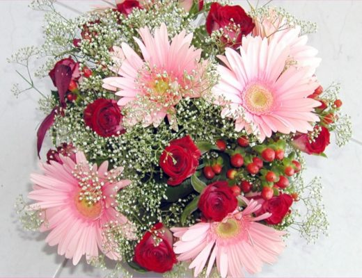 Valentine's Day with Beautiful Flowers