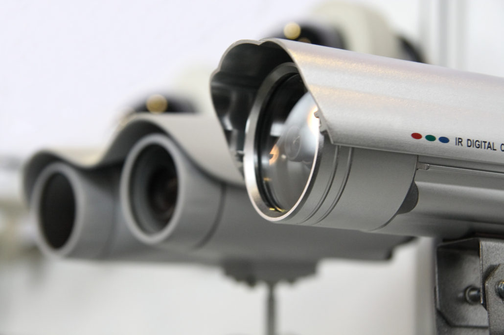 commercial property with CCTV installation